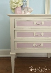 Nightstand in Old White and Antoinette